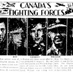 Newspaper clipping– From the Toronto Star October 20th 1944. Submitted for the project Operation Picture Me