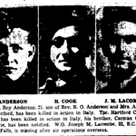 Coupure de Journal – De le Toronto Star, septembre 1944. Soumis pour le projet Opération Photo Moi