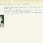 Photo of ROSS ELLWOOD DENISON– From the Kitchener Public Library collection of World War One Soldier Information Cards. Submitted for the project Operation Picture Me