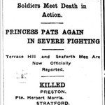 Newspaper clipping– From the London Free Press November 1915. Submitted for the project Operation Picture Me