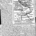 Newspaper Clipping– Second part of an account published in the Toronto Star for 1 May 1915 of the battle in which Major Norsworthy was killed in action.  His death is described in this article.