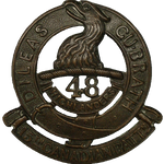 Badge– Cap Badge 15th Bn (48th Highlanders of Canada).  Pte Phillips enlisted with the 15th Bn in 1914 before transfer to the 17th Bn.  Submitted by Capt (ret'd) V.Goldman, 15th Bn Memorial Project Team.  DILEAS GU BRATH