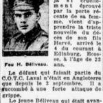 Newspaper clipping– La Presse 23 November 1918
