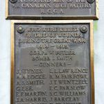 Memorial– The inscription on the memorial to the dead of the 9th Canadian Siege Battery located at Royal Artillery Park in Halifax, Nova Scotia, showing James Barclay's name. Photo taken by Tom Tulloch.