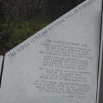 Memorial– Central Section of Korea Veterans National Wall of Remembrance Left Part