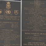 Inscription– Central Section of Korea Veterans National Wall of Remembrance Centre Part