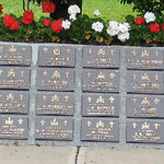 Inscription– A section of the Korean Veterans National Wall of Remembrance in Meadowvale Cemetery, Brampton, Ontario. The memorial consists of a central section and 13 other sections containing memorial plaques for each of the 516 Canadian service men who died while serving with the Canadian Forces in the United Nations operations in Korea. It was erected by the Korea Veterans Association of Canada and was dedicated on July 27, 1997.