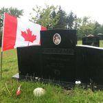 Grave marker– Grave marker of Pte David Robert GREENSLADE at Saint John (Fernhill) Cemetery, Saint John NB, Canada. (Photo credit: Captain (Ret'd) E.L.L. Gaudet, CD)