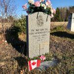 Grave marker– Grave marker of Cpl Zoel Albert ARSENEAULT at St. Charles  Cemetery, St. Charles NB, Canada. (Photo credit: Captain (Ret'd) E.L.L. Gaudet, CD)