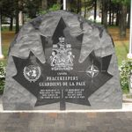 Memorial– I visited Peacekeepers Park in Angus, Ontario. Another Memorial with Joshua's name on it. Love, Mom