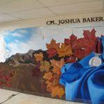 Mémorial – C'est la murale achevée dans son intégralité en mémoire de Joshua. Avec amour, maman