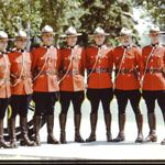 Group Photo– Cst. Al Giesbrecht, 2nd from the left, with his Troop #1 mates, nearing the end of training at Depot Division in Regina in the summer of 1973.