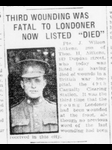 Newspaper Clipping– Contributed by E.Edwards www.18thbattalioncef.wordpress.com