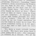 Coupure de presse – Tiré du Toronto Star d'avril 1915. Soumis pour le projet Operation Picture Me