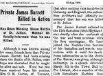 Newspaper clipping– Muskoka Herald 03-Aug-1916 1 of 2